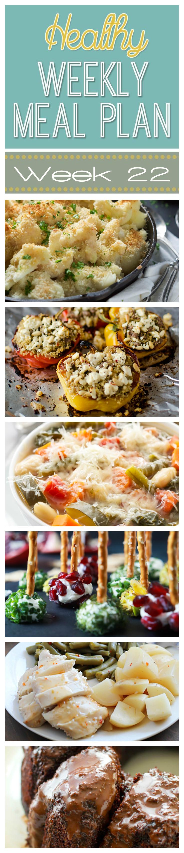 Healthy Weekly Meal Plan #22