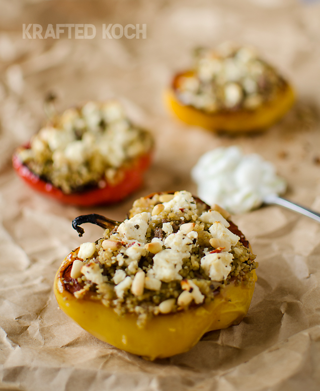 Mediterranean Lamb Couscous Stuffed Peppers