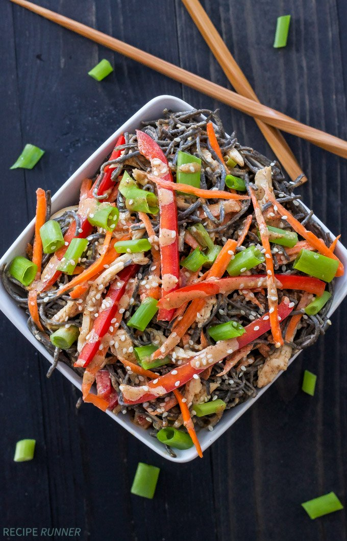 Sesame Chicken Noodle Bowls | Skip the take-out and make these healthy, protein filled, Asian inspired noodle bowls instead! #ad #beanpasta