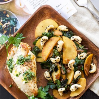 Sun Basket Review and Giveaway | Roast chicken with kale, apple and black-sesame toasted cashews
