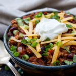 Healthy Slow Cooker Turkey Chili   Low on fat and calories and high on flavor, this Healthy Slow Cooker Chili will become a family favorite!