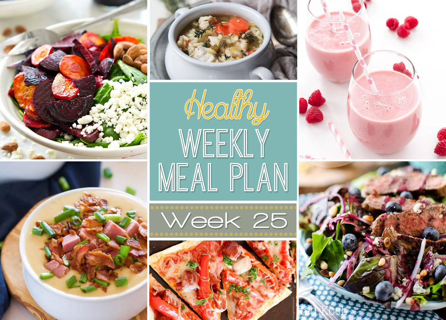 Healthy Weekly Meal Plan 25