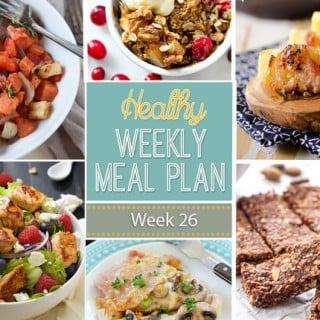 Healthy Weekly Meal Plan #26