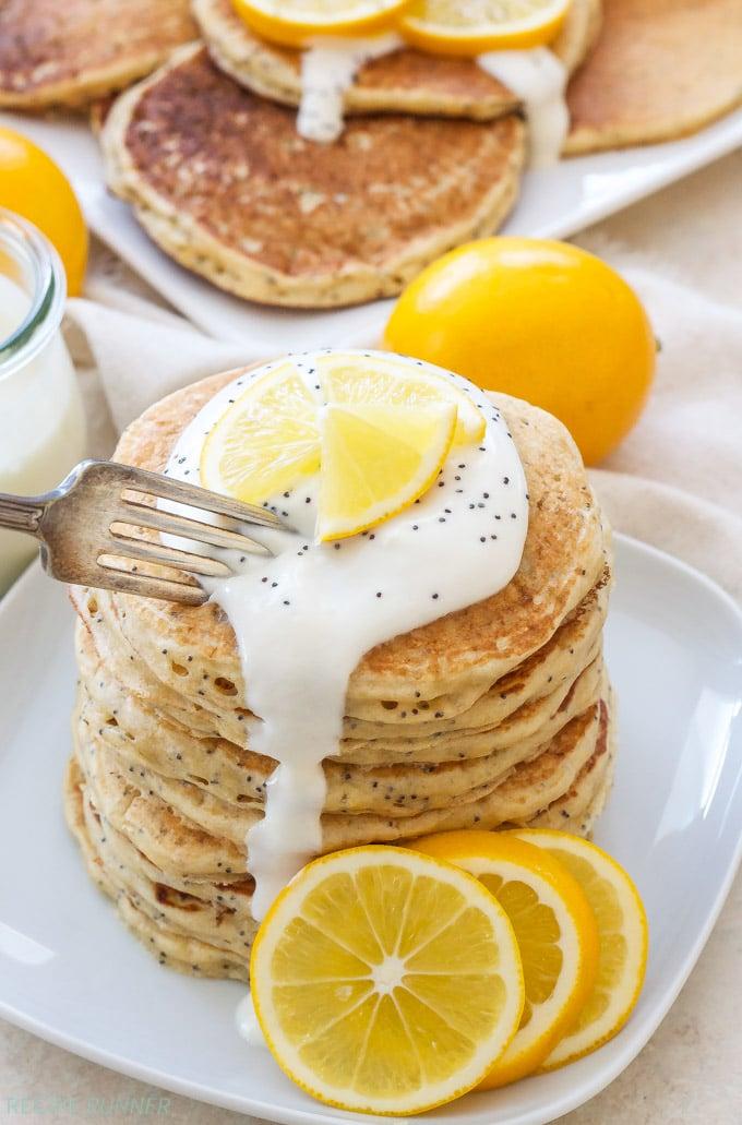 Meyer Lemon Poppy Seed Pancakes - Recipe Runner