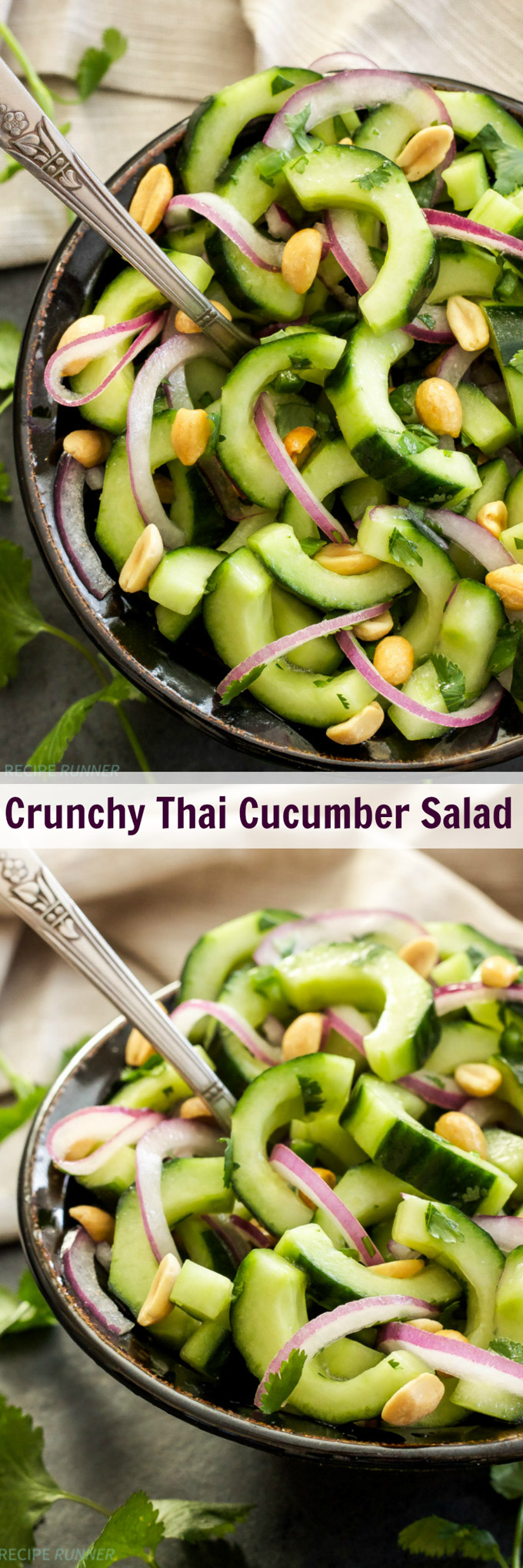 Crunchy Thai Cucumber Salad | This Crunchy Thai Cucumber Salad is a little sweet, a little spicy and a whole lot of good!