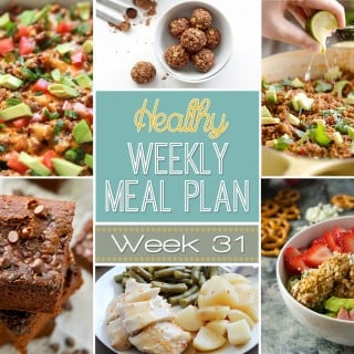Healthy Weekly Meal Plan #31
