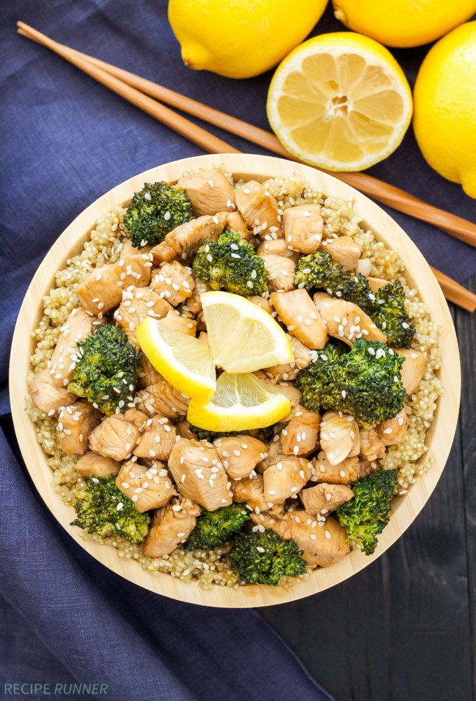 Lemon Honey Chicken and Broccoli Stir-Fry   This Lemon Honey Chicken and Broccoli Stir-Fry is full of sweet lemon flavor and comes together in 30 minutes! Skip the takeout and make this better for you version instead!