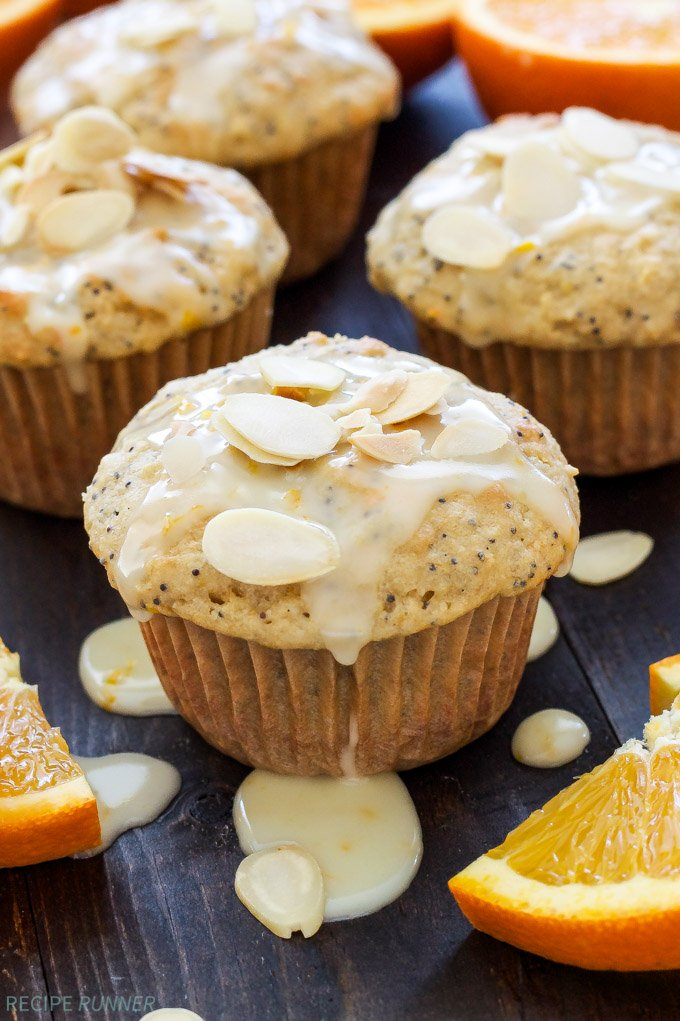 Orange Almond Poppy Seed Muffins | Light, tender Orange Almond Poppy Seed Muffins are perfect for your weekend breakfast or brunch!