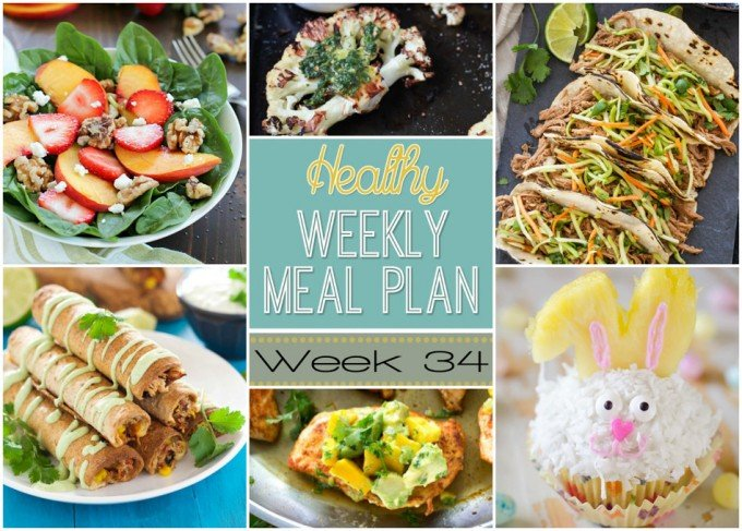 Healthy Weekly Meal Plan #34