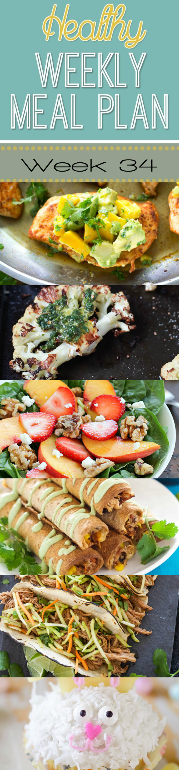 Healthy Weekly Meal Plan #34