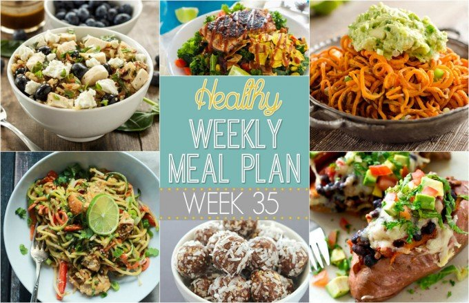Healthy Weekly Meal Plan #35