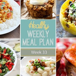 Healthy Weekly Meal Plan #33