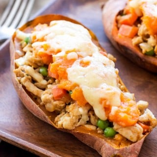 Turkey Shepherd's Pie Stuffed Sweet Potatoes   These non-traditional Turkey Shepherd's Pie Stuffed Sweet Potatoes are a fun, healthy and delicious twist one of the classic St. Patrick's Day meals!
