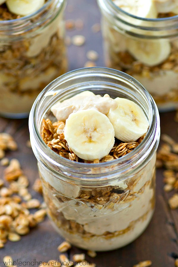 Banana Cream Pie Granola Parfaits