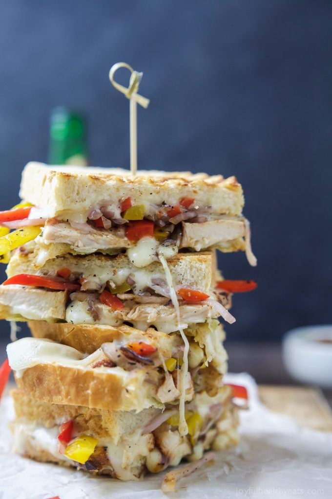 Cheesy Chicken Fajita Panini