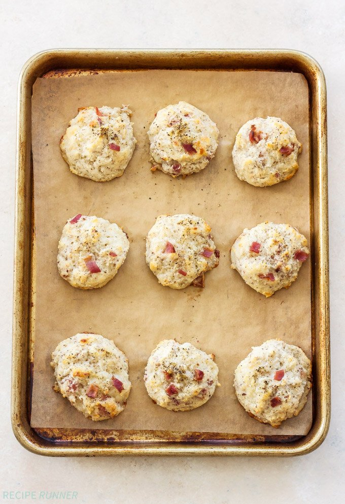 Easy Gluten-Free Drop Biscuits Two Ways   Every brunch needs a biscuit and now you can make these Easy Gluten-Free Drop Biscuits Two Ways! Sweet Strawberry Biscuits with Lemon Curd Whipped Cream and savory Black Pepper, Bacon, Gruyere Biscuits!