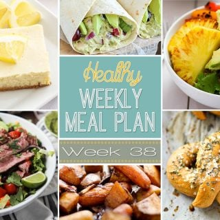 Healthy Weekly Meal Plan #38