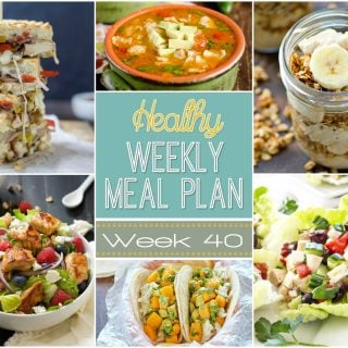 Healthy Weekly Meal Plan Week 40