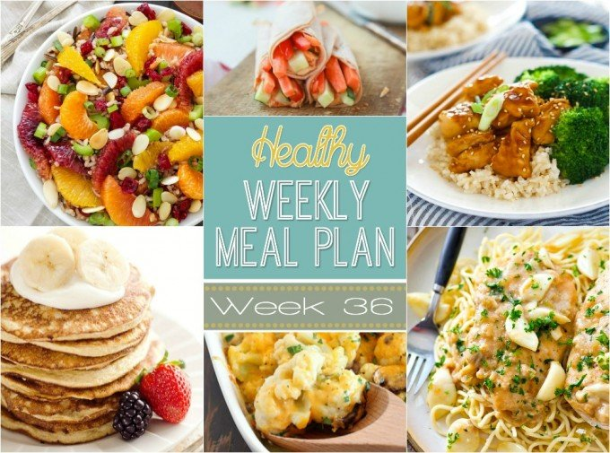 Healthy Weekly Meal Plan #36