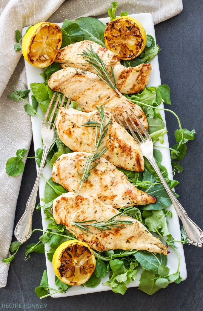 Lemon Rosemary Grilled Chicken | Chicken breasts are quickly..