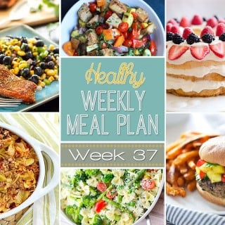 Healthy Weekly Meal Plan #37