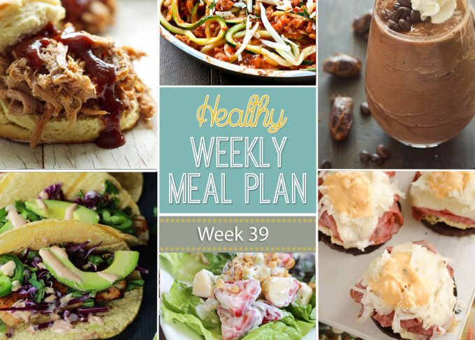 Healthy Weekly Meal Plan #39