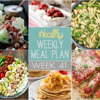 Healthy Weekly Meal Plan #41