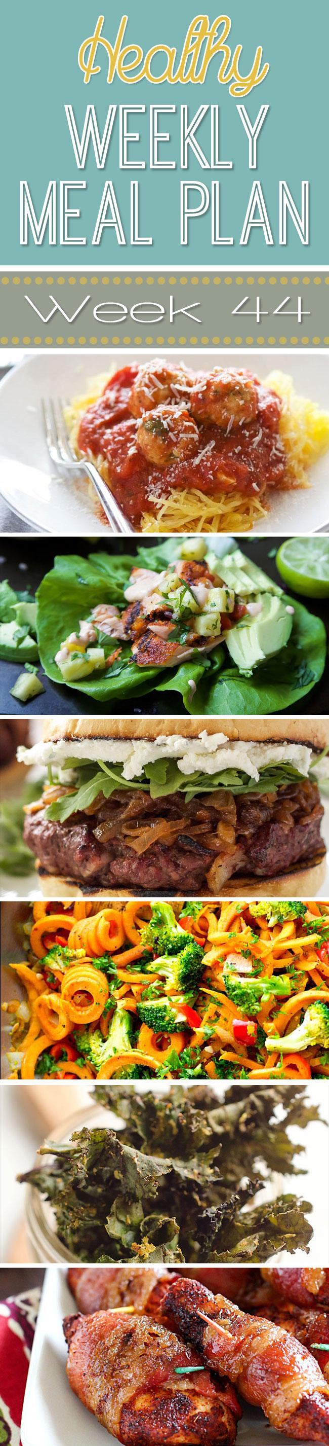 Healthy Weekly Meal Plan #44