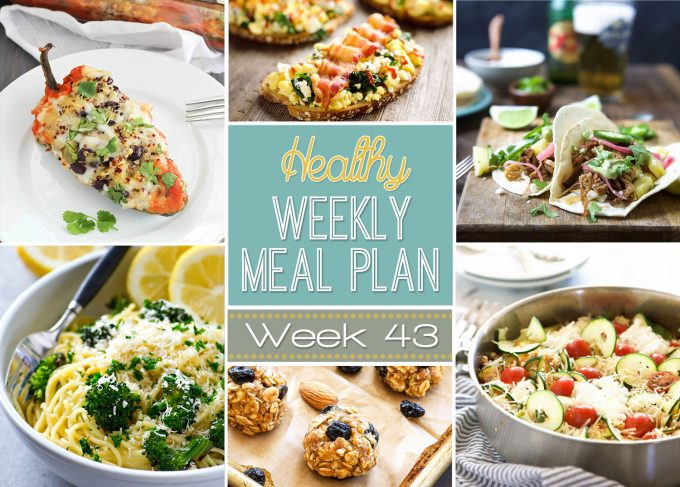 Healthy Weekly Meal Plan #43