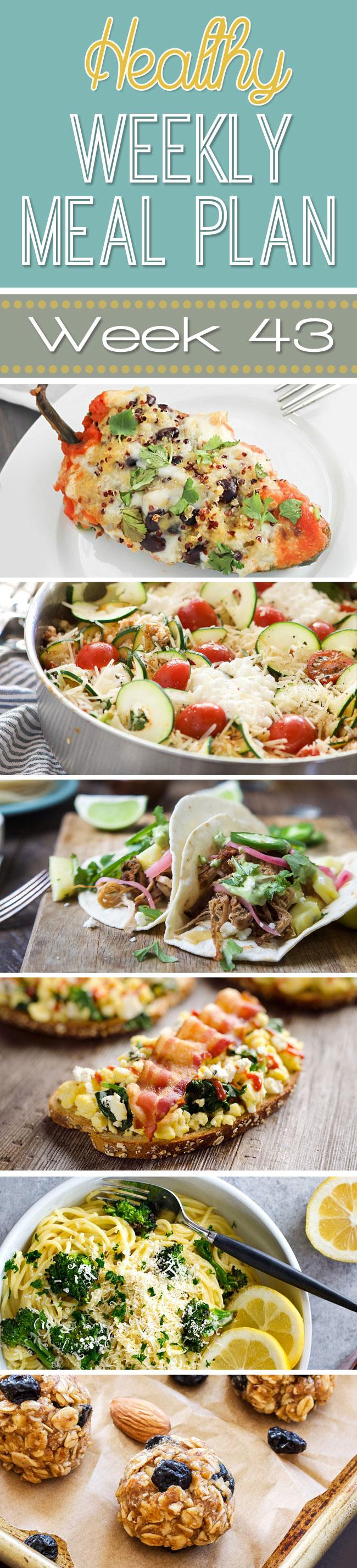 Healthy Weekly Meal Plan #43