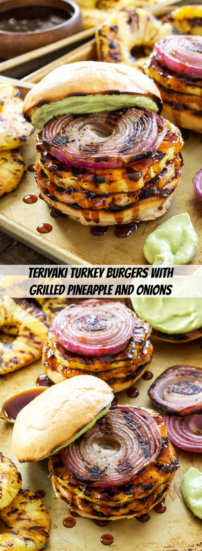 Teriyaki Turkey Burgers with Grilled Pineapple and Onions ...