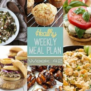Healthy Weekly Meal Plan #42