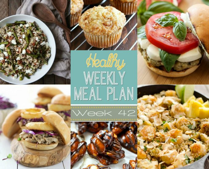 Healthy Weekly Meal Plan #42
