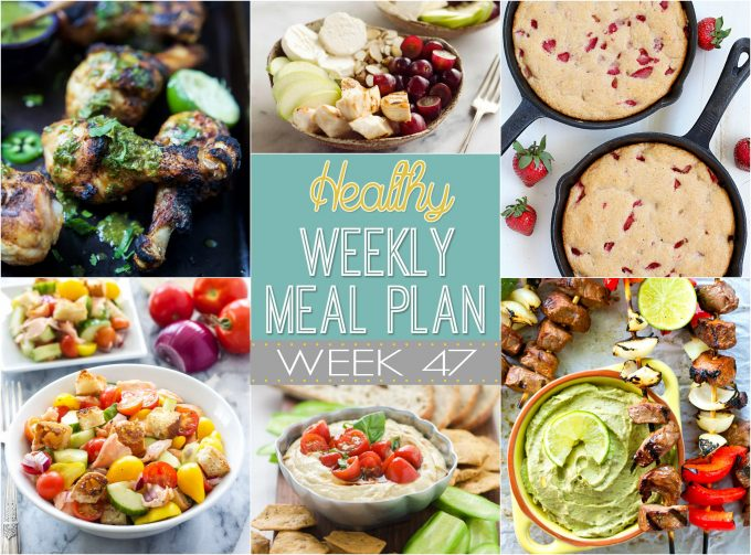 Healthy Weekly Meal Plan #47