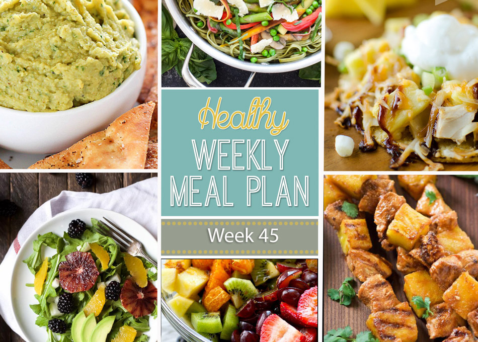 Healthy Weekly Meal Plan #45