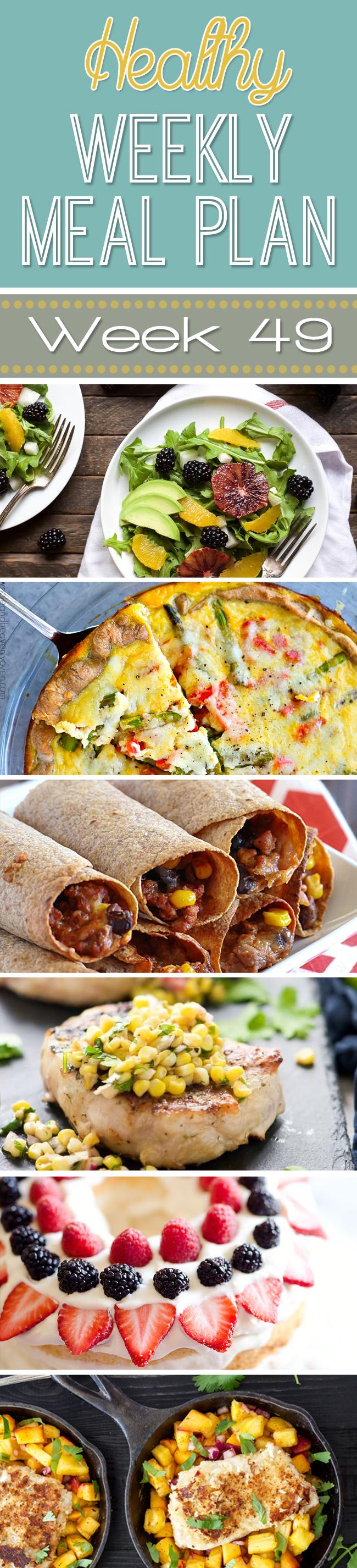 Healthy Weekly Meal Plan #49