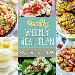 Healthy Weekly Meal Plan #48
