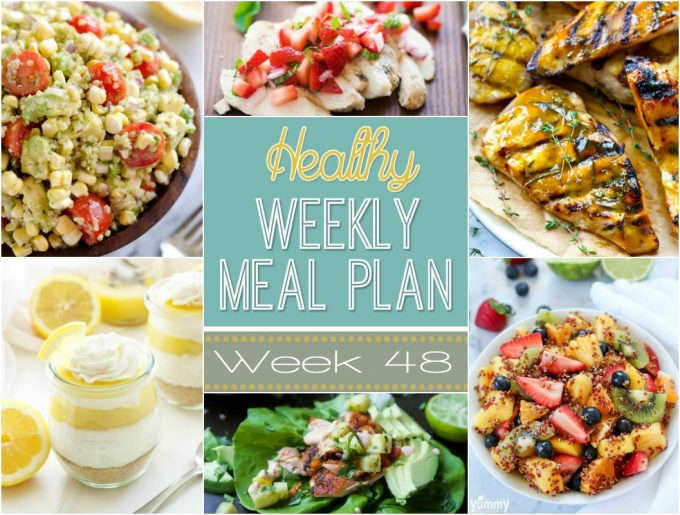 Healthy Weekly Meal Plan #48
