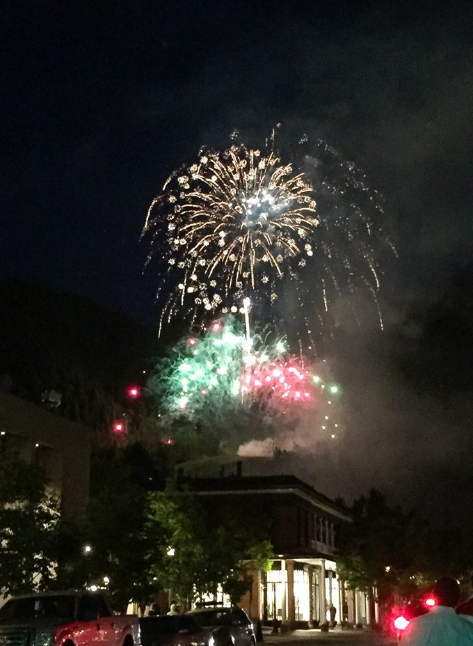 4th of July Fireworks, Aspen, Colorado