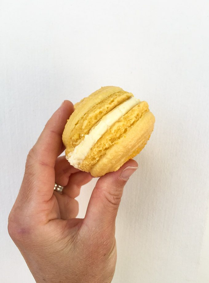 Lemon Macaron from Annette's Mountain Bake Shop in Aspen, Colorado