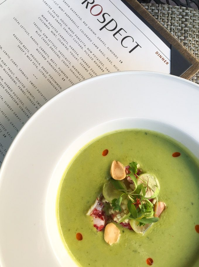 Green Gazpacho from Prospect in Aspen, Colorado