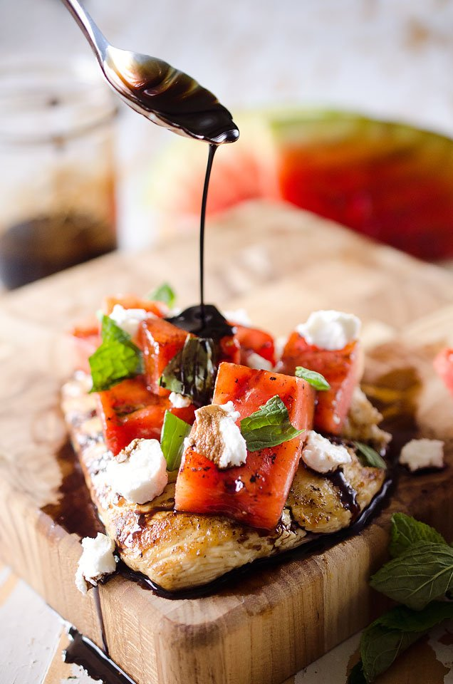 Grilled Watermelon Balsamic Chicken