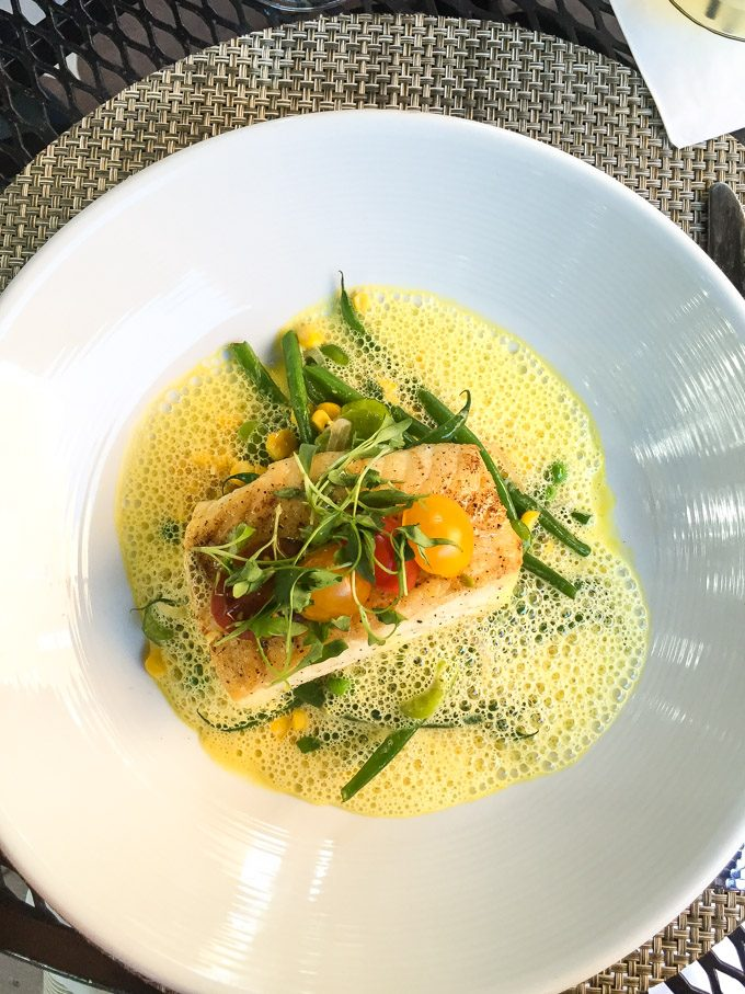 Halibut with Summer Vegetables from Prospect in Aspen, Colorado