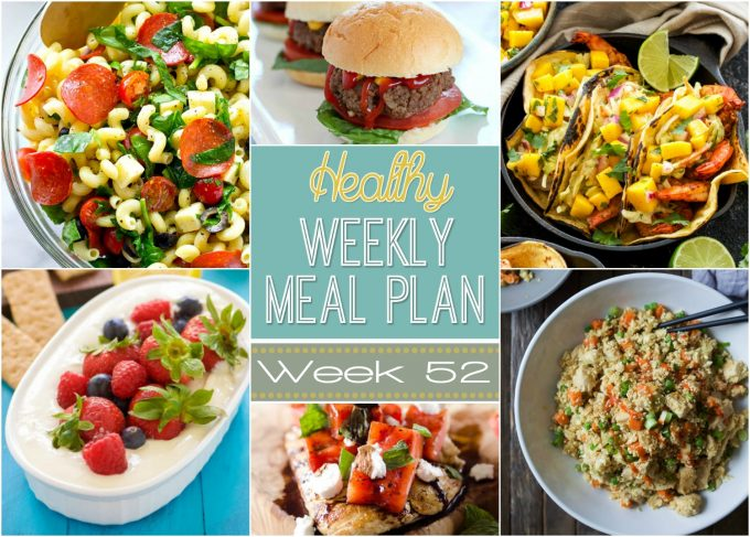 Healthy Weekly Meal Plan #52