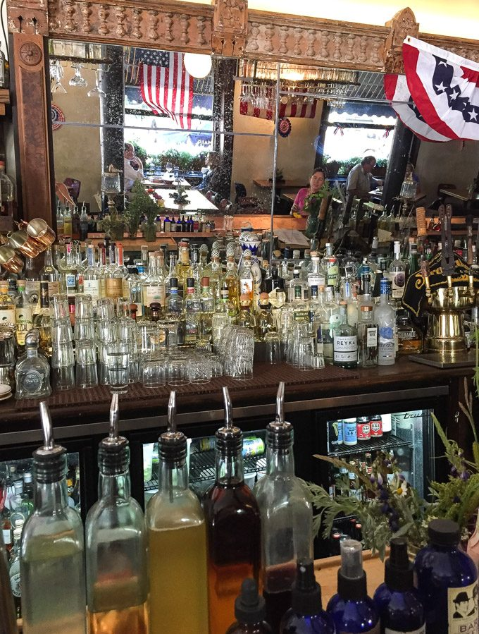 The bar at Justice Snow's in Aspen, Colorado