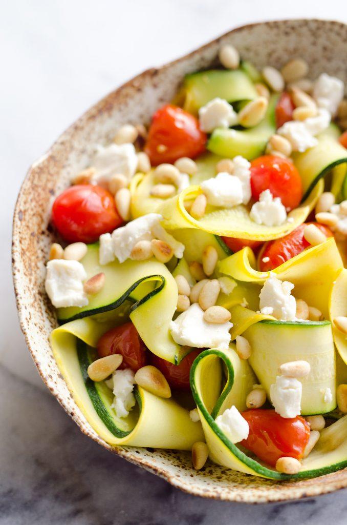 Sauteed Zucchini Squash Ribbon Salad