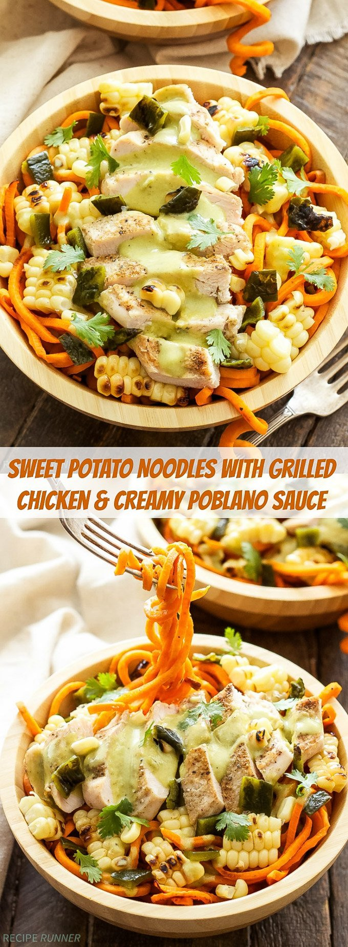 Sweet Potato Noodles with Grilled Chicken and Creamy ...