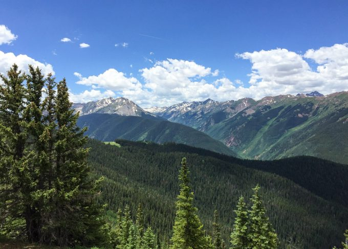 Views of the Elk Mountain Range on top of Aspen Mountain (Ajax)