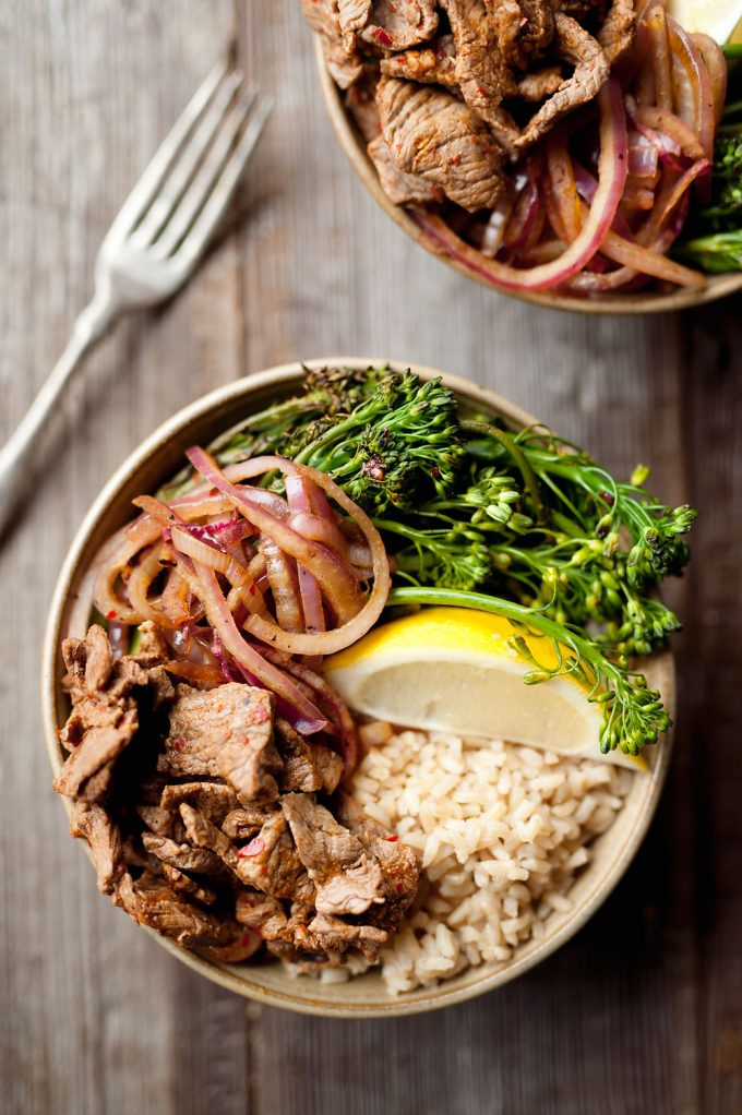 10 Minute Beef Broccolini Bowls