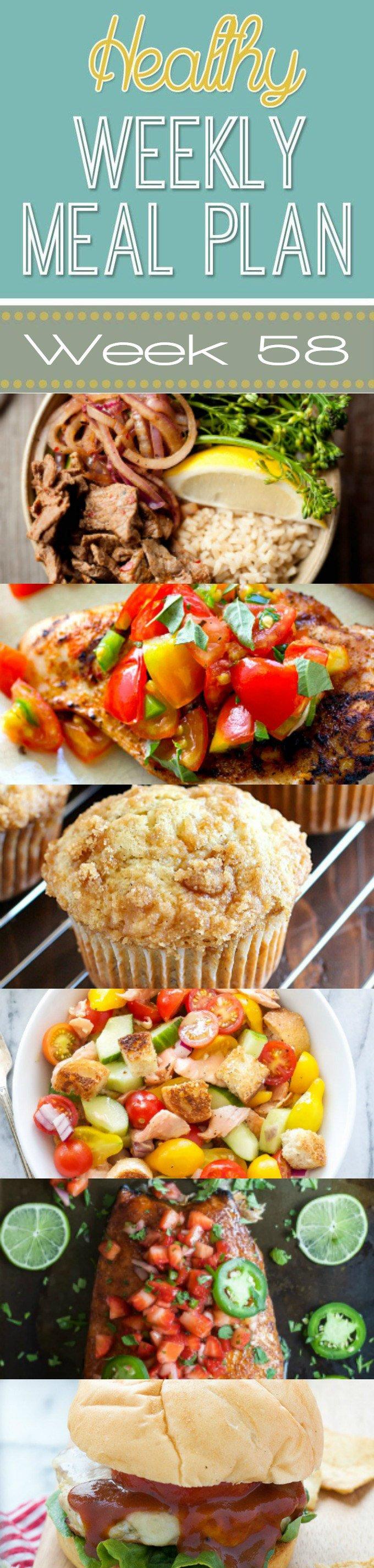 Healthy Weekly Meal Plan #58